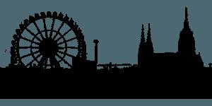 Silhouette München Stadtbild